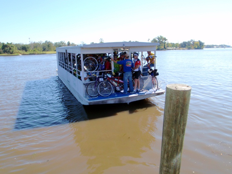 Bicyclers on ferry